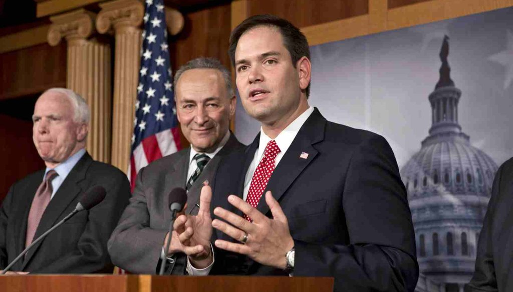 In 2013, Sen. Marco Rubio joined a bipartisan group of senators that introduced immigration legislation. By 2014, the bill was dead. (AP Photo)
