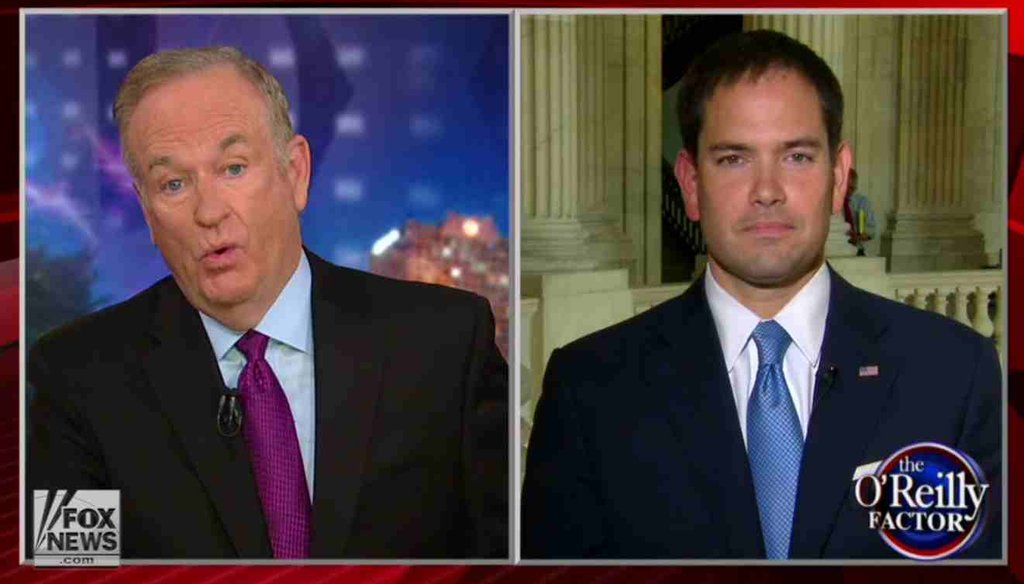 Sen. Marco Rubio, R-Fla., discussed his views on climate change with Fox News host Bill O'Reilly.