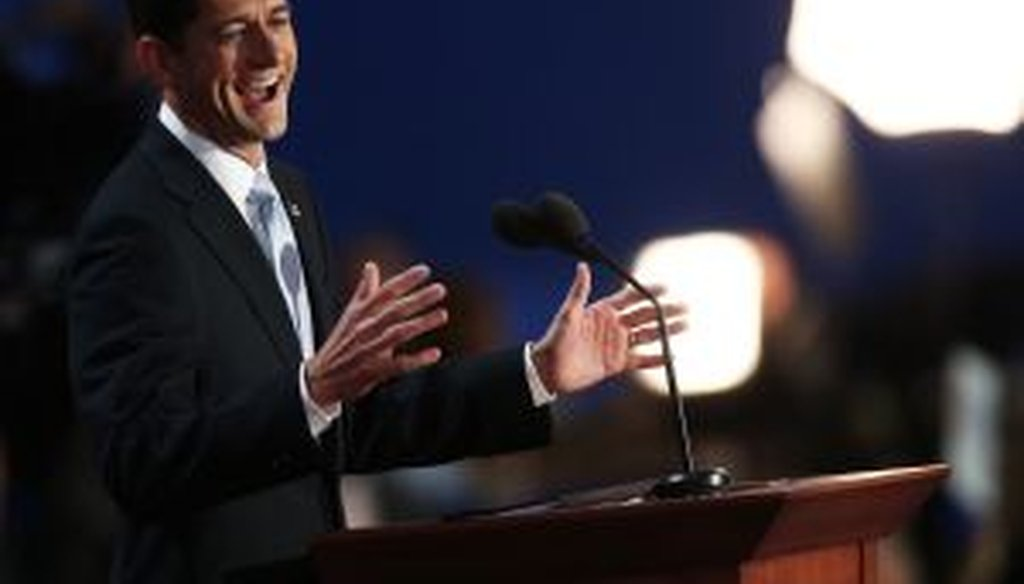 Republican vice presidential nominee articulated pointed criticisms of President Obama at the Republican National Convention.
