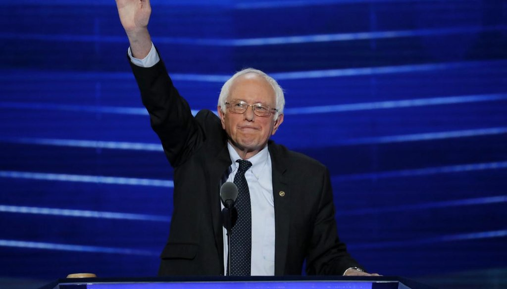 Former Democratic presidential candidate, Sen. Bernie Sanders, I-Vt., waves to the delegates before addressing the first day of the Democratic National Convention in Philadelphia, Pa., July 26, 2016. (AP)