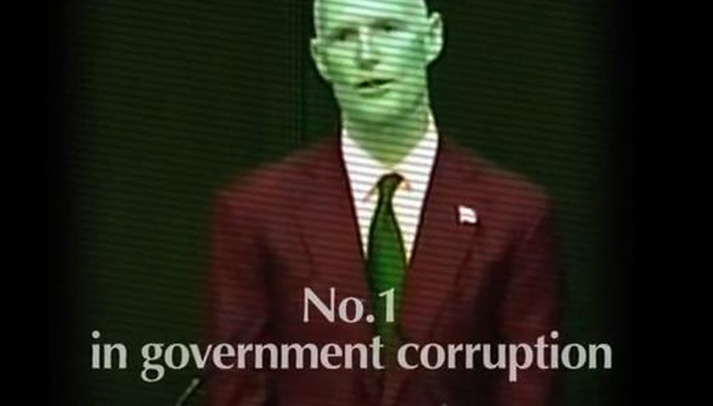 A Web video by the Florida Democratic Party links a corruption study with Gov. Rick Scott.