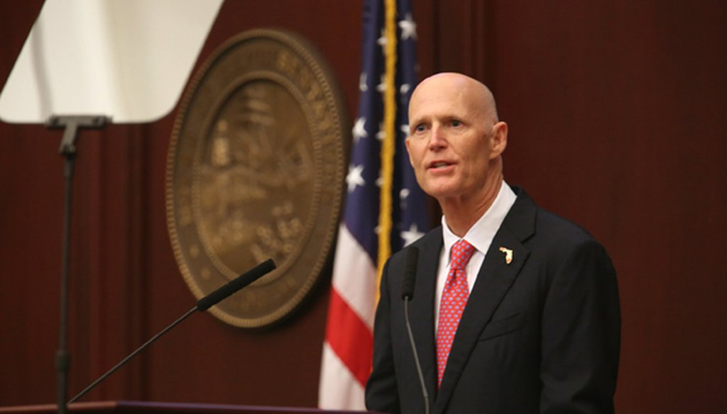 Gov. Rick Scott speaks before the Florida Legislature during his State of the State address on Jan. 12, 2016. (Tampa Bay Times photo)