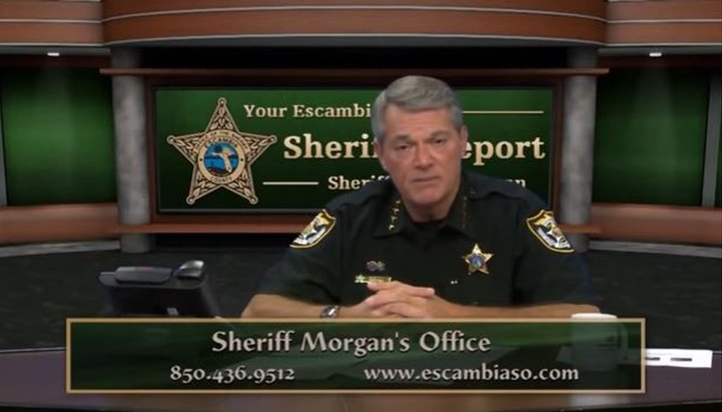 Escambia Sheriff David Morgan made some controversial statements about African-Americans in speeches.