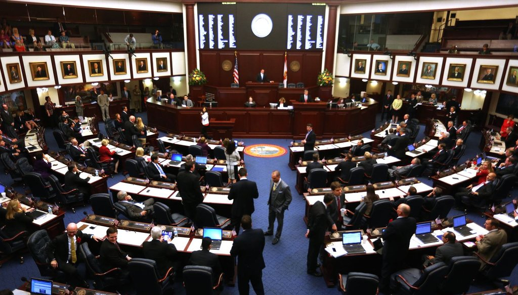 From 2014, members of the Florida House were in session during the first day of the Florida Legislative session in Tallahassee. (Tampa Bay Times photo)