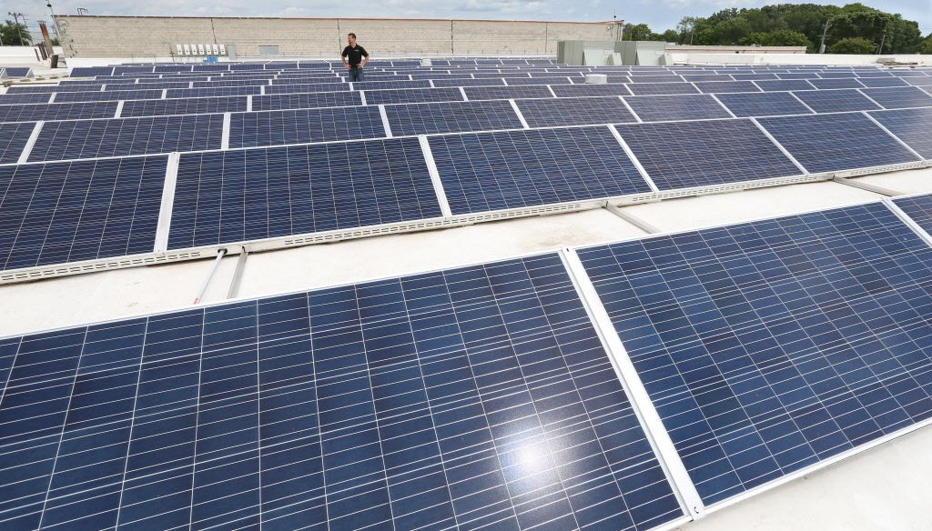 Solar panels dot the rooftops of homes in Groveland, Fla. (2014 Times file photo)