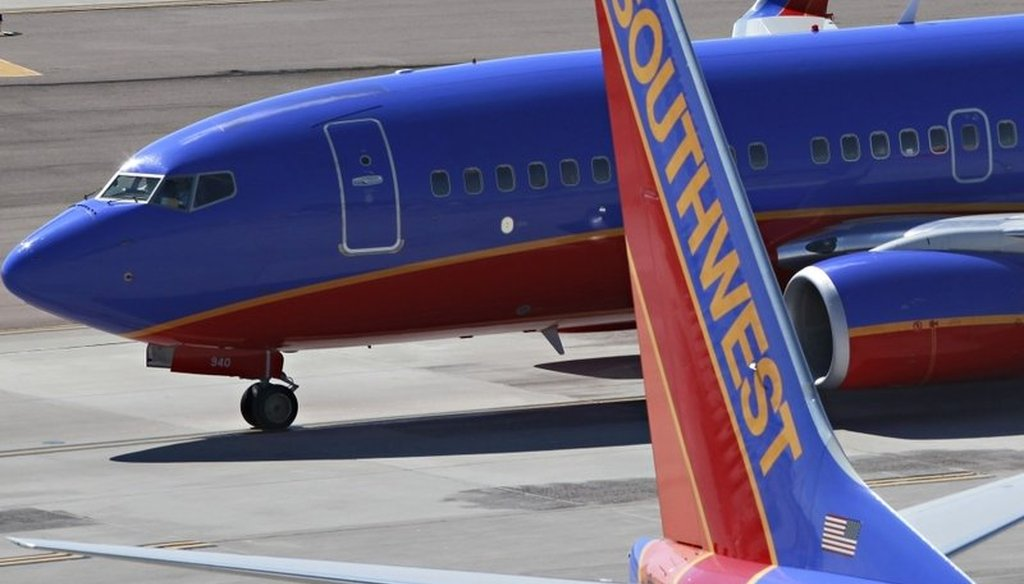 Southwest Airlines jets at Sky Harbor International Airport in Phoenix in 2010. (AP)