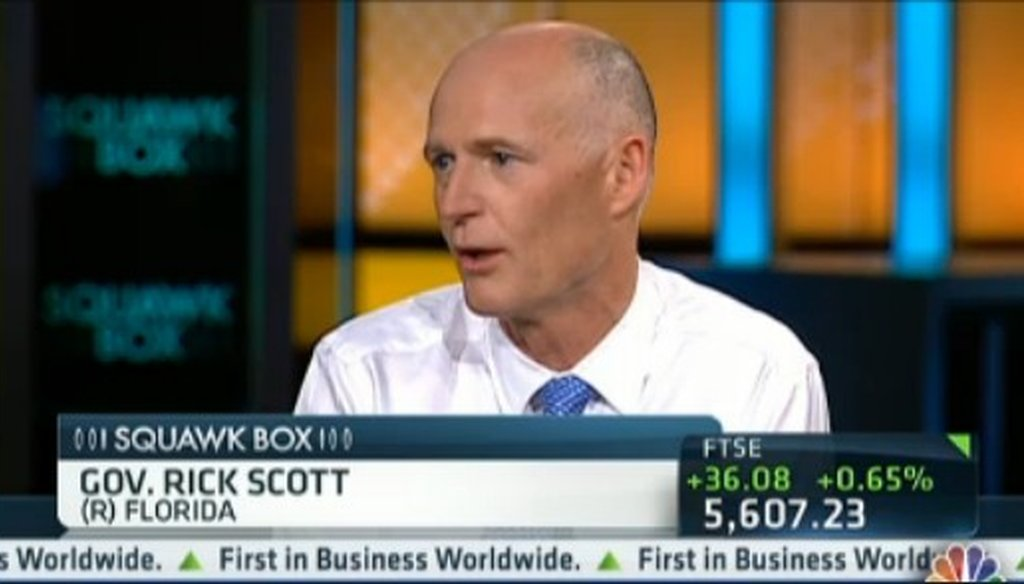 "Gov. Rick Scott discusses the proposed Medicaid expansion July 2, 2012, on CNBC's ""Squawk Box."""