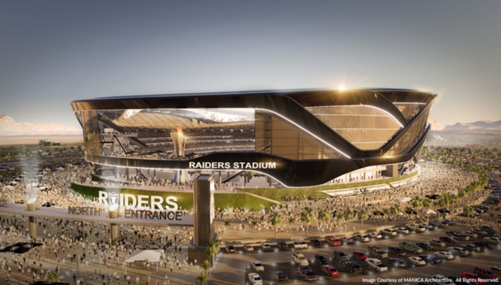 Rendering of proposed Las Vegas stadium that would host an NFL team