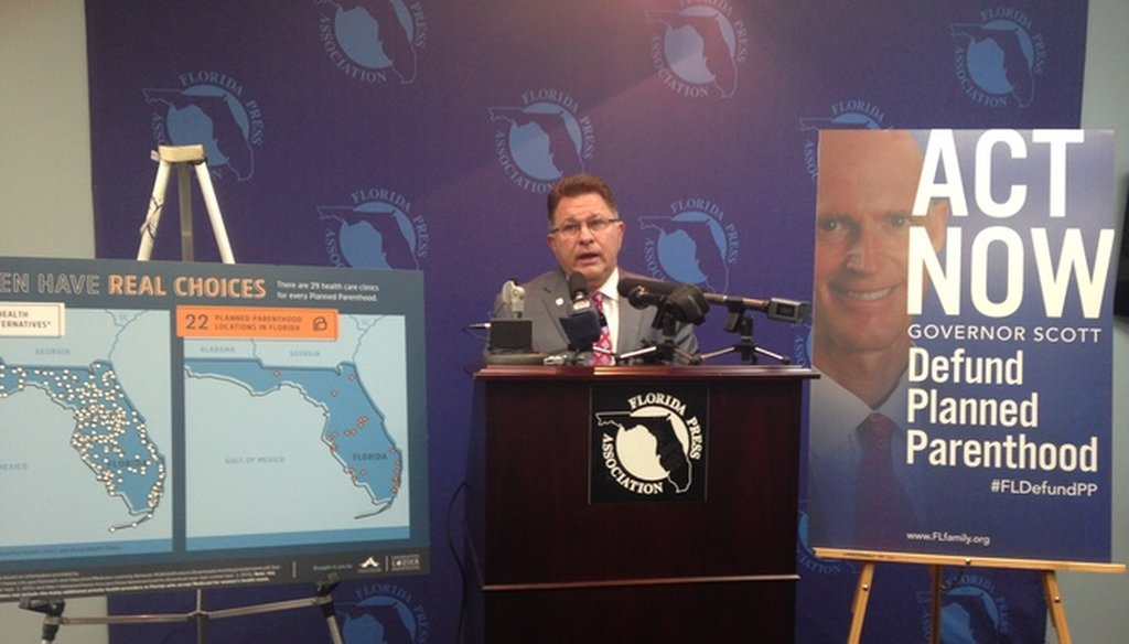 John Stemberger of the Florida Family Policy Council, shown here on Oct. 1, 2015, has asked Gov. Rick Scott to end all forms of state contracts and funding to Planned Parenthood. (Tampa Bay Times photo)