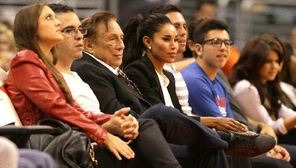 LA Clippers owner Donald Sterling courtside at an October 2013 NBA game. (Robert Gauthier/Los Angeles Times/MCT)
