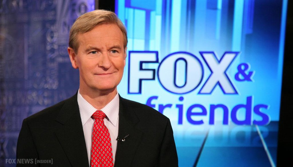"""Steve Doocy of """"Fox and Friends"""" said 1934 was the hottest year on record and NASA scientists """"fudged the numbers"""" to make it seem cooler."""