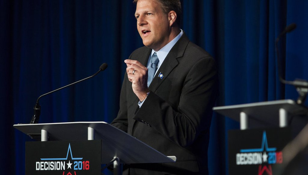 Chris Sununu at a recent debate.