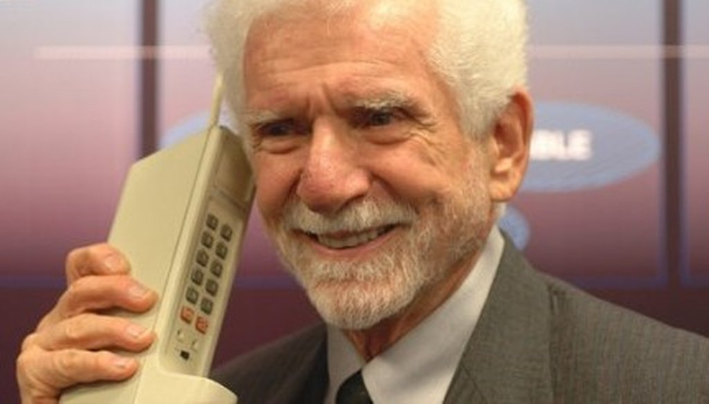 American Martin Cooper generally is credited with inventing the cell phone.