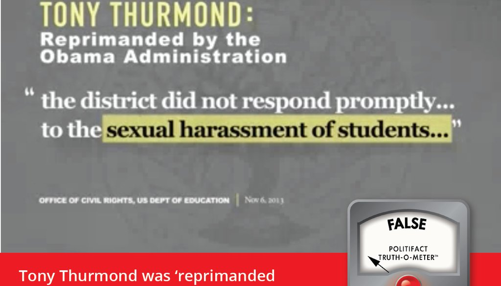 """A recent TV attack ad by a group supporting Marshall Tuck falsely claimed the Obama administration """"reprimanded"""" Tony Thurmond."""