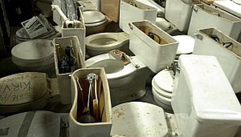 Last week, a claim about replacing old toilets with low-flow ones overflowed with optimism.