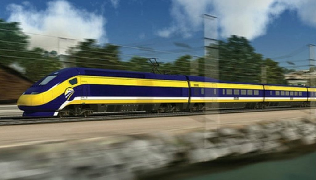 Rendering from California High-Speed Rail Authority