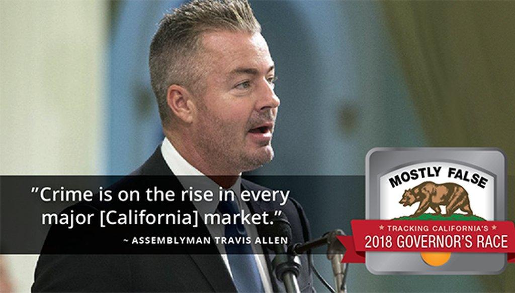 California State Assemblyman Travis Allen, R-Huntington Beach