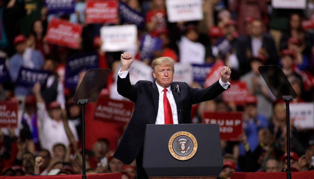 Republican Presidential candidate Donald Trump addresses supporters during a political rally at the Phoenix Convention Center on July 11, 2015 in Phoenix. (Getty Images)