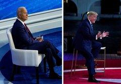 Fact-checking Donald Trump, Joe Biden in head-to-head town halls