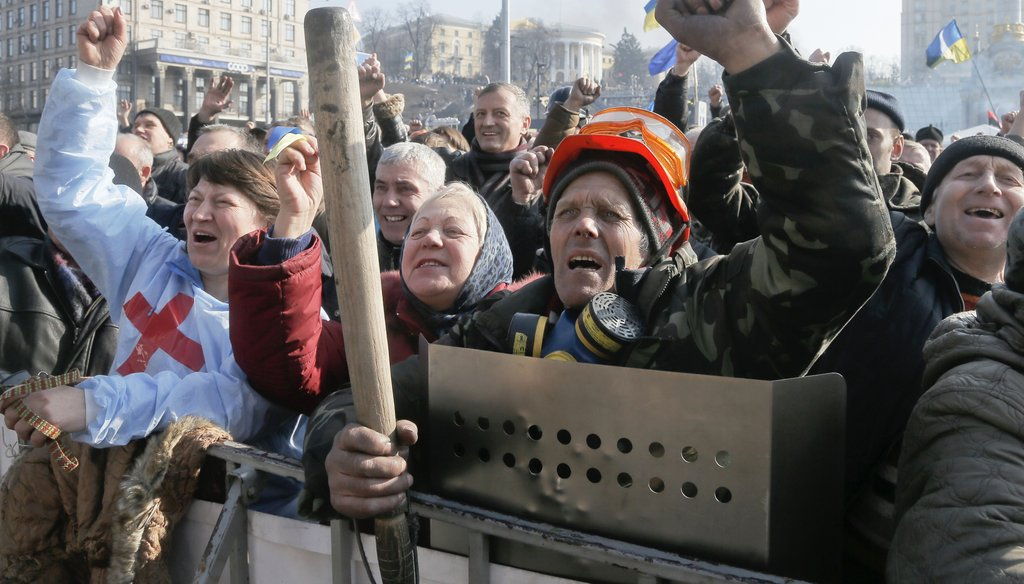 The Sunday news shows will discuss the latest developments with anti-government unrest in Kiev. Associated Press photo.