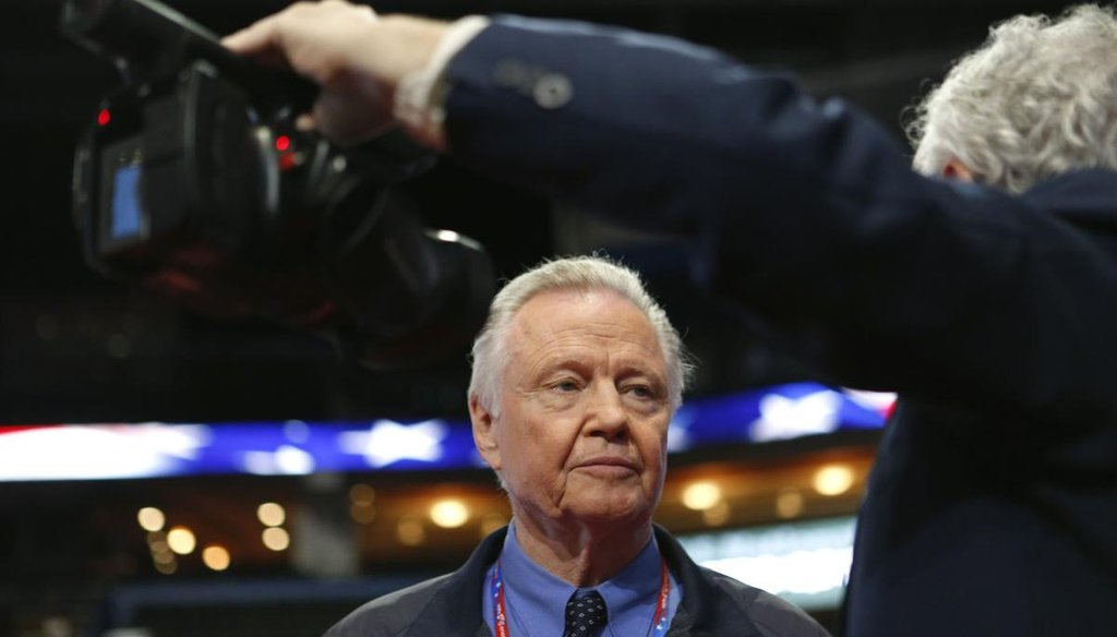 Actor Jon Voight is interviewed at the the Republican National Convention on Aug. 29, 2012, in Tampa. (Edmund D. Fountain, Times)