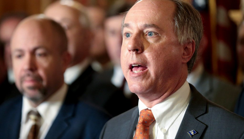 "Assembly Speaker Robin Vos says ""red flag laws"" allow guns to be seized without a judge's involvement. (Steve Apps/Wisconsin State Journal via AP, File)"