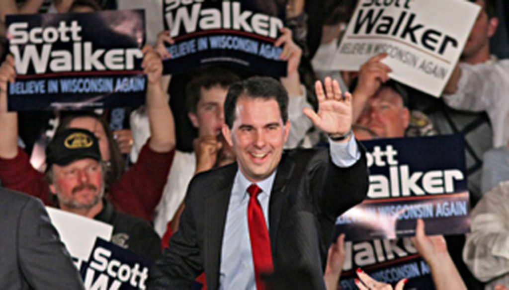 Gov.-elect Scott Walker, at his election-night victory party