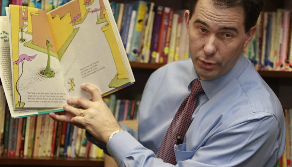 Wisconsin Governor Scott Walker has defended his record on education in the face of criticism over his 2011-13 budget