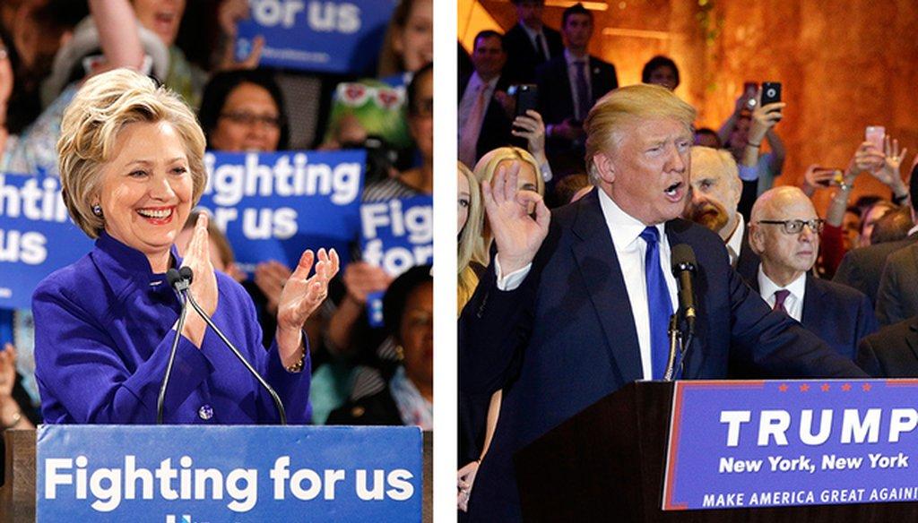 Hillary Clinton and Donald Trump (Associated Press file photos)