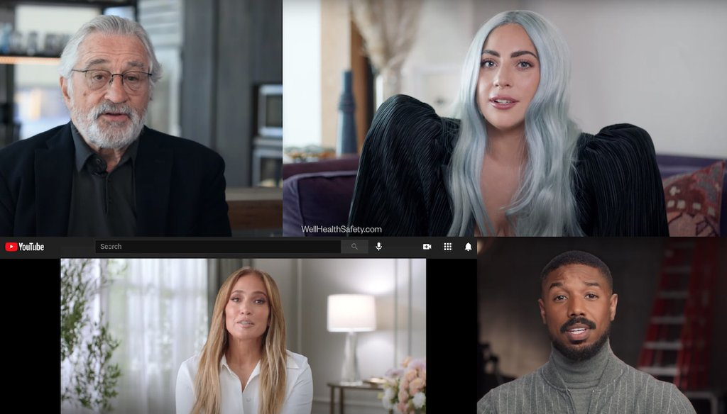 Commercials for the WELL Health Safety Seal feature a star-studded cast of actors, singers and celebrities. (YouTube screenshot)