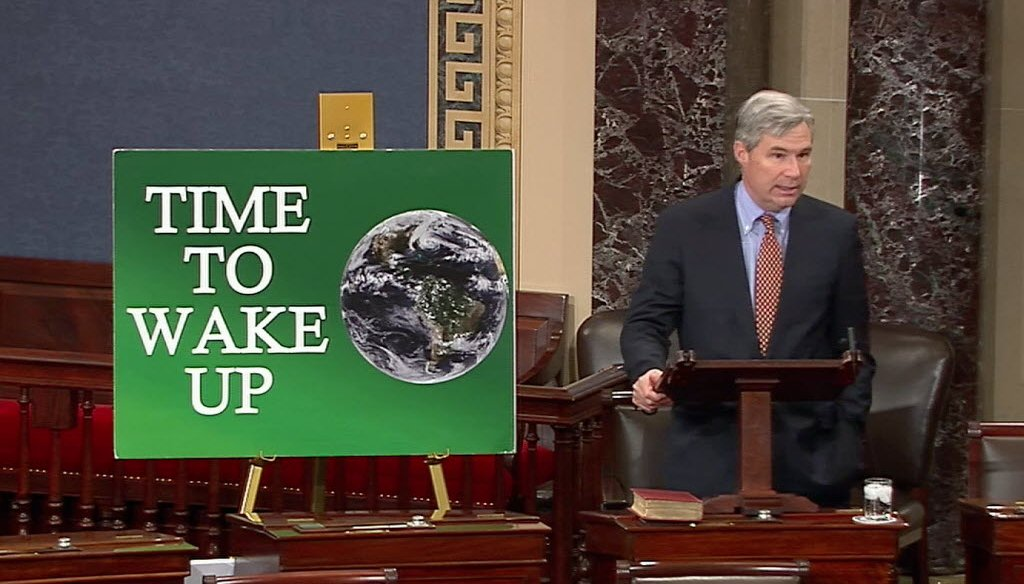 Sen. Whitehouse delivers his 50th climate change speech in November of 2013