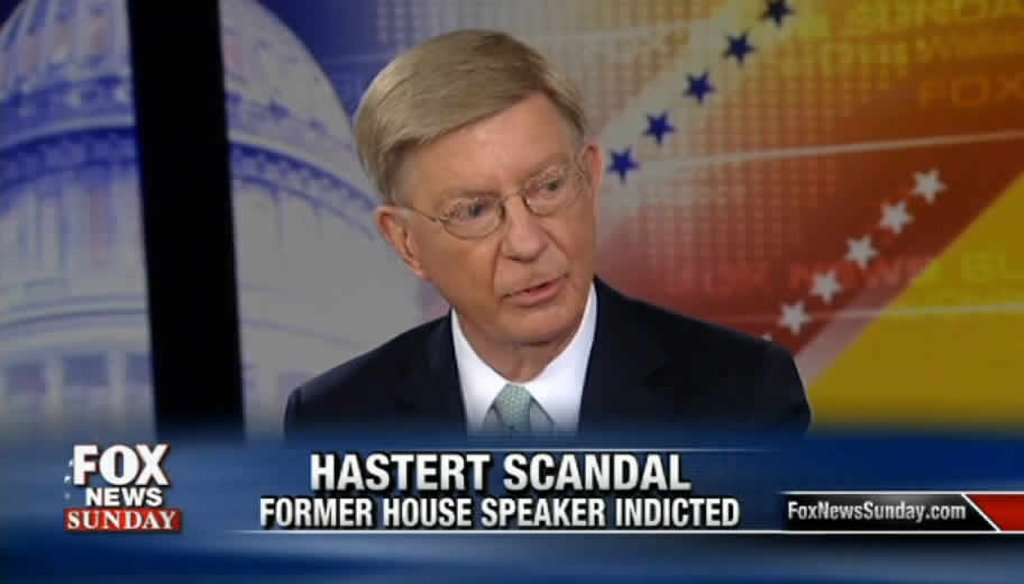 Columnist George Will drew attention to the money former House Speaker Dennis Hastert made from lobbying.