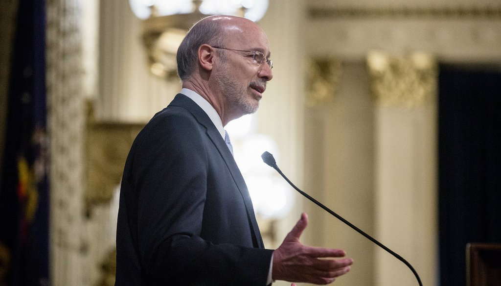 Gov. Tom Wolf delivers his budget address on Feb. 7, 2017 | Governor Tom Wolf / Flickr