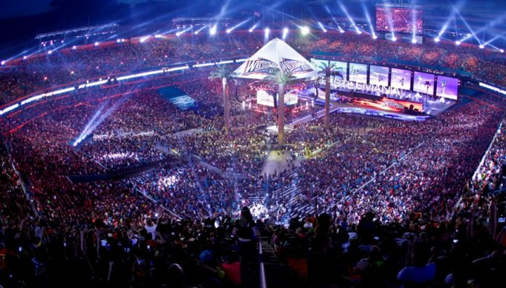 WrestleMania 2012 at Miami's Sun Life Stadium. Photo provided by World Wrestling Entertainment.