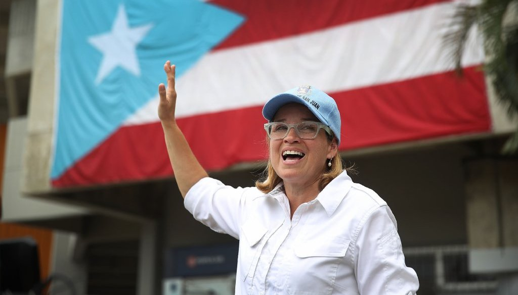 A fake news story said that San Juan, Puerto Rico's city council voted to impeach Mayor Carmen Yulin Cruz. (Getty Images photo)