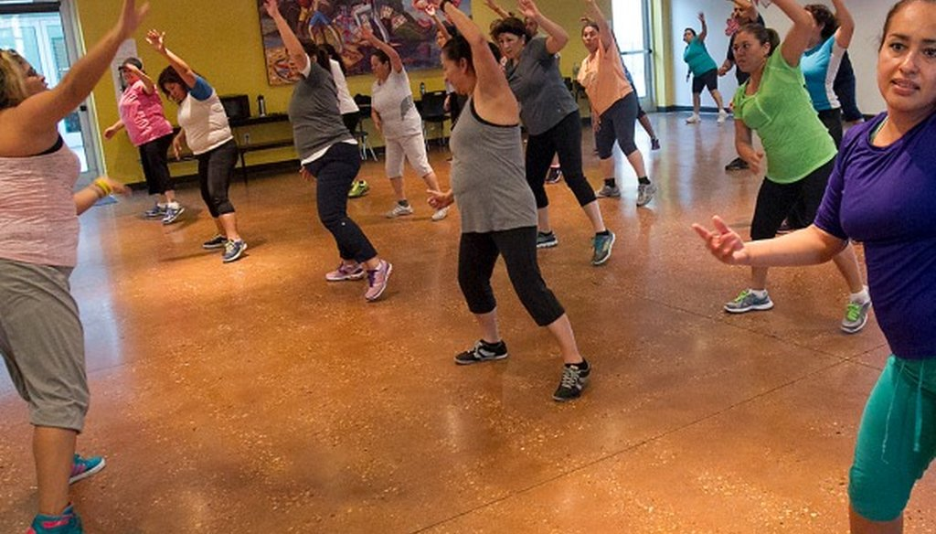 We're betting exercise like this helps battle weight gains. We found Mostly True a Texas claim about the share of Texans either overweight or obese (Austin American-Statesman photo, Ralph Barrera).