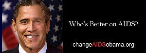 Obama vs. Bush AIDS