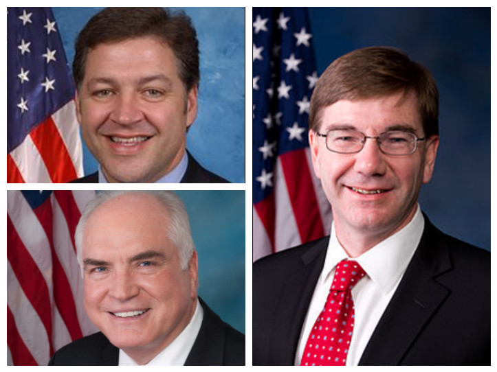 Reps.  Keith Rothfus, Mike Kelly and Bill Shuster