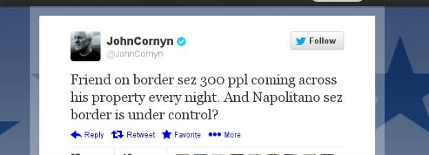 Sen. Cornyn's Feb. 20, 2013, tweet.