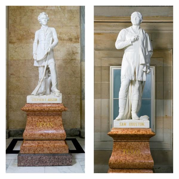 Texan Says U S Capitol Statues Of Stephen F Austin Sam Houston