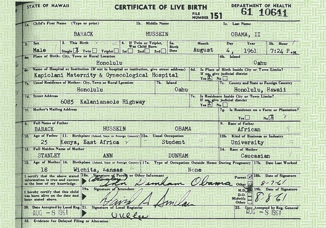 federal lawsuit obama birth certificate