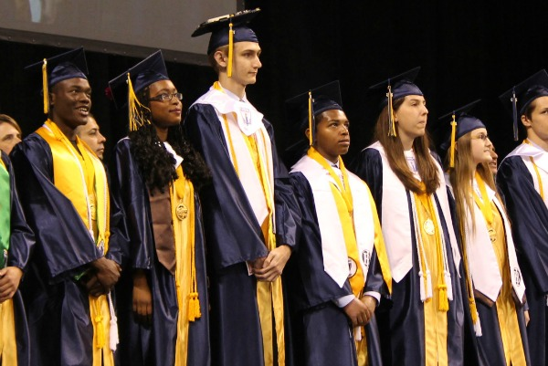 We looked into varied indicators of college readiness about the same time Stony Point High School held its June 2016 graduation exercises (Round Rock Leader photo).