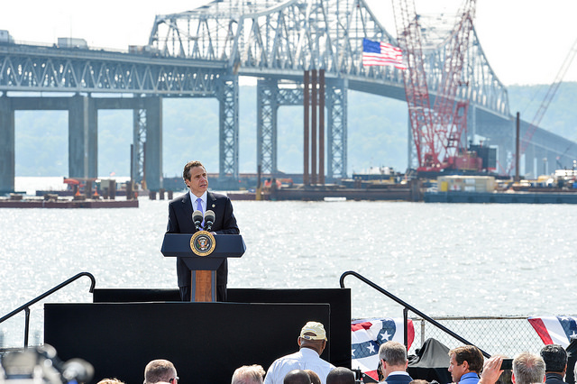 State Republican Chairman Edward F. Cox claimed upstate Thruway drivers will pay for the Tappan Zee Bridge replacement. (Courtesy: Gov. Cuomo's Flickr account)