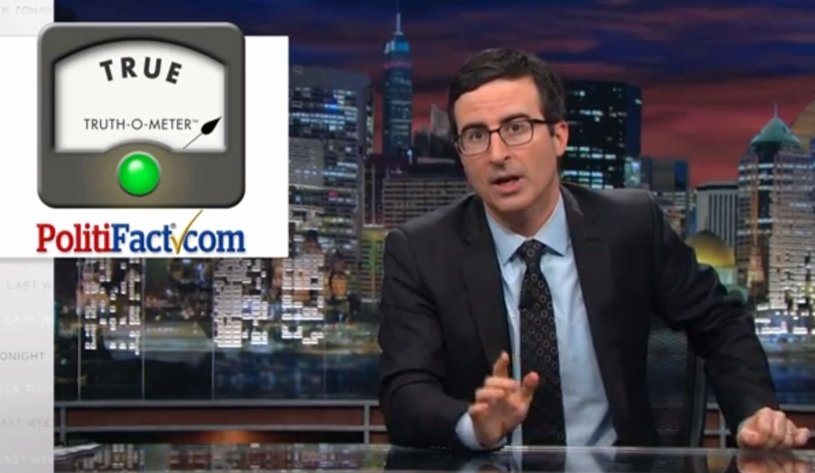 John Oliver used the Truth-O-Meter Sunday during a bit about the Kentucky Senate race.