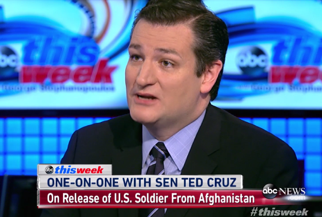 "Texas Republican Sen. Ted Cruz said, ""U.S. policy has changed, now we make deals with terrorists."""