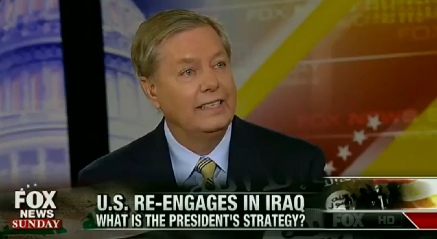 "Sen. Lindsey Graham appeared on ""Fox News Sunday"" on Aug. 10, 2014"