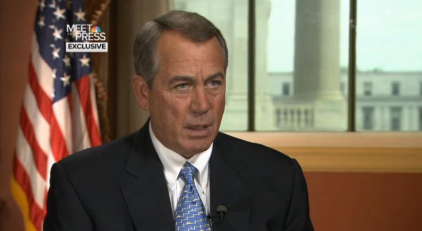 """House Speaker John Boehner, R-Ohio, on NBC's """"Meet the Press."""""""