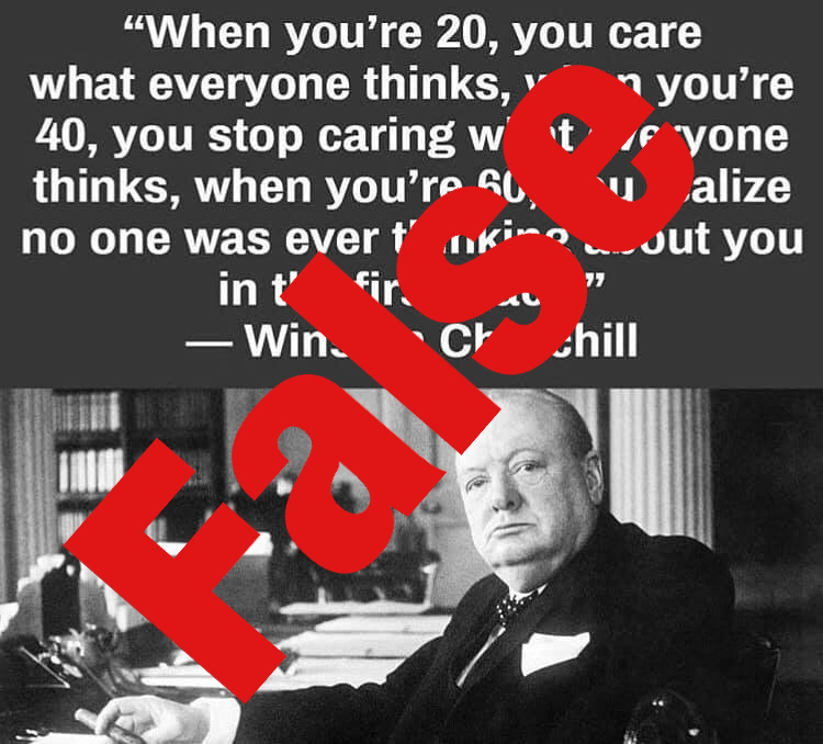 No Winston Churchill Didnt Say This Quote About Age