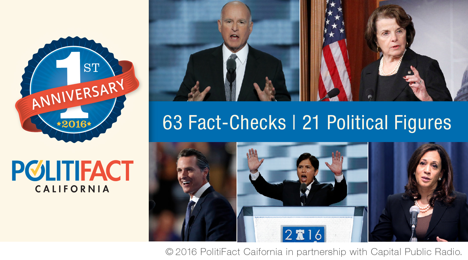 In its first year, PolitiFact California called out falsehoods and half-truths across the Golden State.