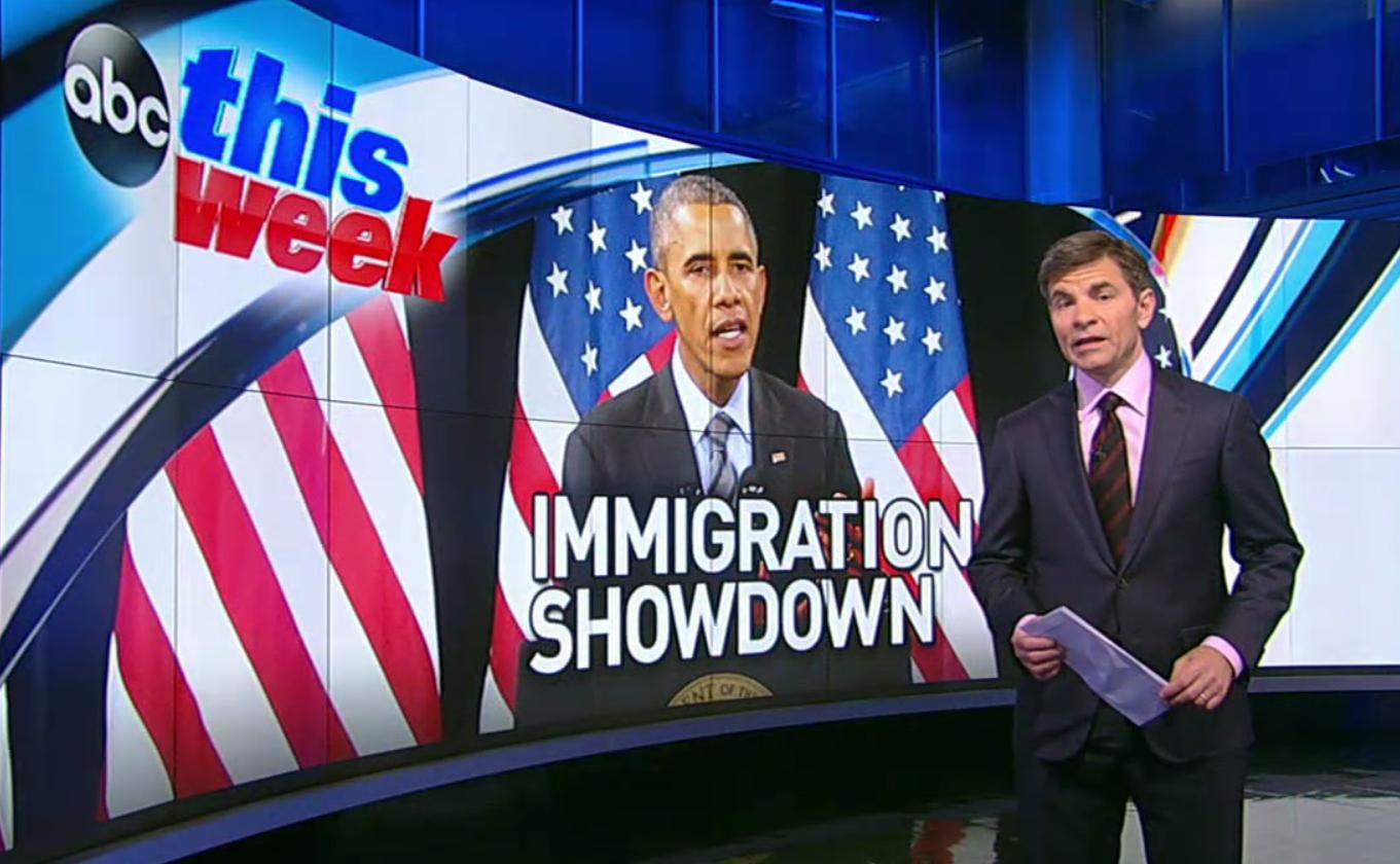 """ABC """"This Week"""" host George Stephanopoulos interviewed President Barack Obama for the Nov. 23, 2014, show."""